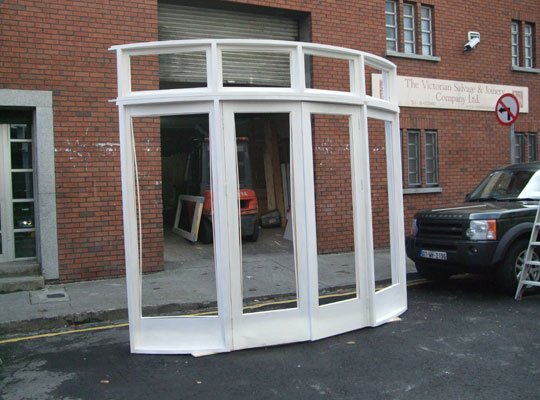 , Curved French doors