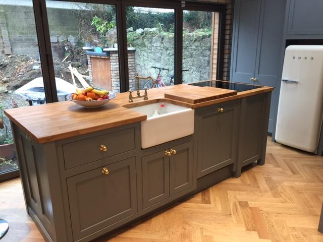 Corner kitchen & island - Dublin
