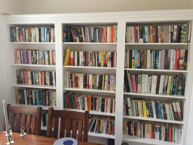 Bespoke Bookcase with 3 Bays of shelves